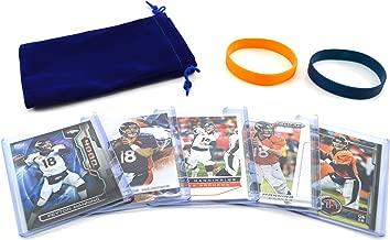 Peyton Manning (5) Assorted Football Cards Bundle - Denver Broncos Trading Cards