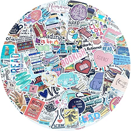 Reading Stickers Wsnyy 200 Pcs I Love Reading Waterproof Graffiti Vinyl Decals Motivational Stickers for Waterbottle Laptop Computer Phone Decal Notebook Decoration
