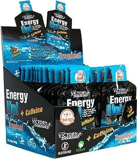 Energy Up Gel Cafeína Sabor Tropical, con cafeína. Con plus de sodio. Energía inmediata