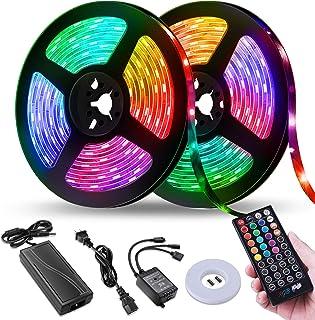 LED Strip Lights,NightScene 32.8FT LED Music Sync Color...