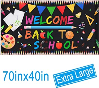 Welcome Back To School Banner - Extra Large Fabric 70