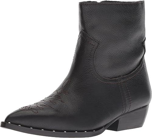 Sam Edelman Wohommes Ava Ankle démarrage, noir Leather, 9 M US