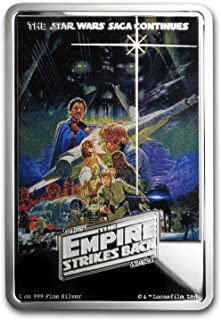2017 NZ Niue 1 oz Silver $2 Star Wars The Empire Strikes Back Poster 1 OZ Brilliant Uncirculated