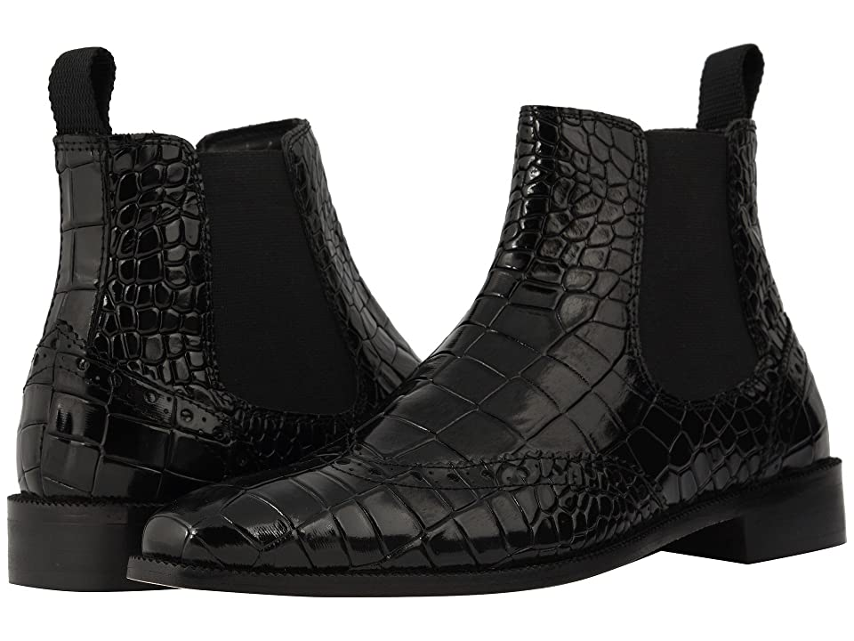 Stacy Adams Frontera Croc Wingtip Chelsea Boot (Black) Men