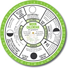 Perpetual Calendar for Gardening by the Phases of the Moon. Biodynamic Gardening Methods and Old Farmers Almanac Recommend Planting by the Phases of the Moon. 365 Day Everlasting Calendar. Easy to Use