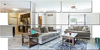 Look Decor SAG 12 Frame Silver 3D Mirror Acrylic Wall Sticker Decoration for Kids Room/Living Room/Bedroom/Office/Home Lat...