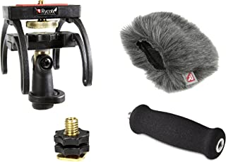 Rycote Portable Recorder Kit for ZOOM H4N Handy Recorders, with Suspension, Mini Windjammer and Extension Handle