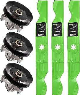 8TEN Spindle Hi-Lift Blade Kit for 50 Inch Cut Deck MTD Cub Cadet LTX1050KH LTX1050KW YT950KH 942-04053C