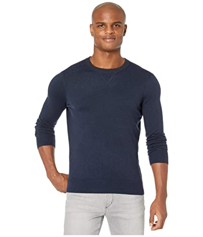 Smartwool Sparwood Crew Sweater (Deep Navy/Charcoal Heather) Men