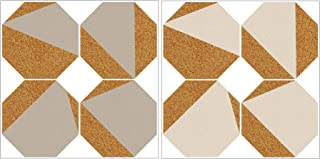 WallPops WPK2312 Cream and Taupe Octagon Cork Organizer Shapes Wall-Decor-Stickers