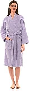 Women's Turkish Cotton Robe, Terry Cloth Kimono Bathrobe