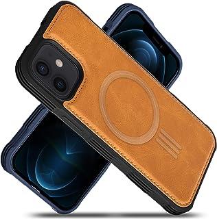 Migeec Funda de Piel sintética Compatible con iPhone 12 y iPhone 12 Pro de 6.1 Pulgadas, Carga magnética, Reforzada a Prue...