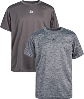 RBX Boys' Athletic T-Shirt - 2-Pack Performance Short Sleeve Tee (Big Boy)