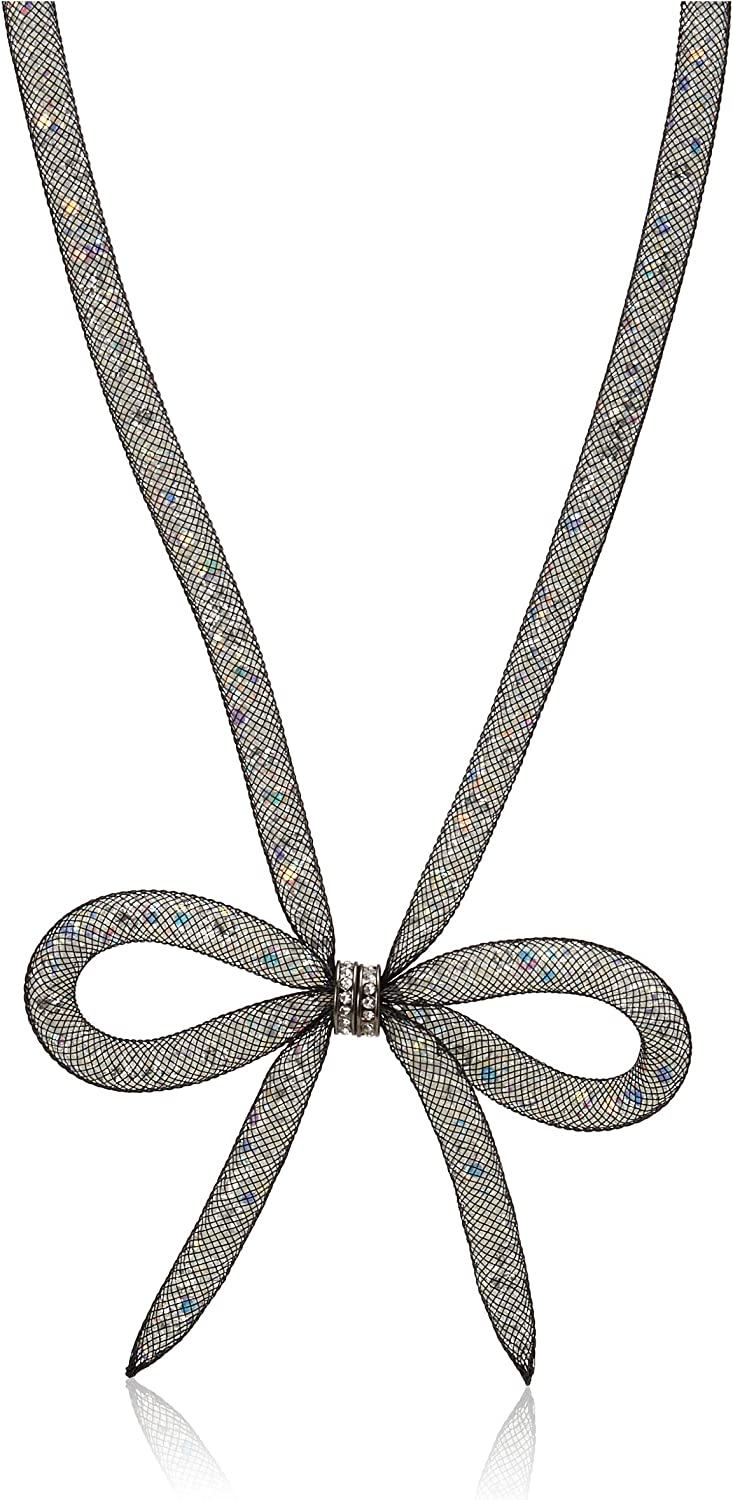 Betsey Johnson Mesh Bow Necklace, 16