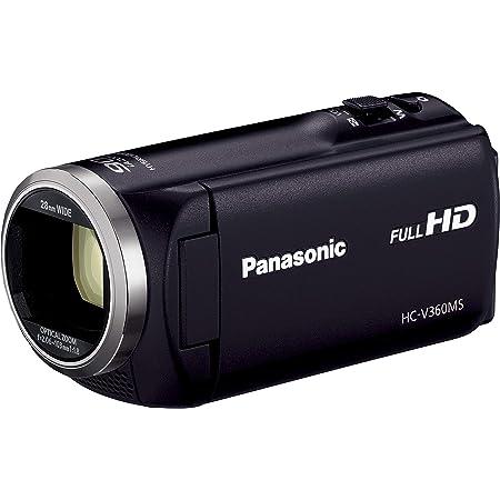 パナソニック HDビデオカメラ V360MS 16GB 高倍率90倍ズーム ブラック HC-V360MS-K