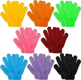 Kids Gloves, 8 Pairs Valentine's Day Winter Knit Gloves...