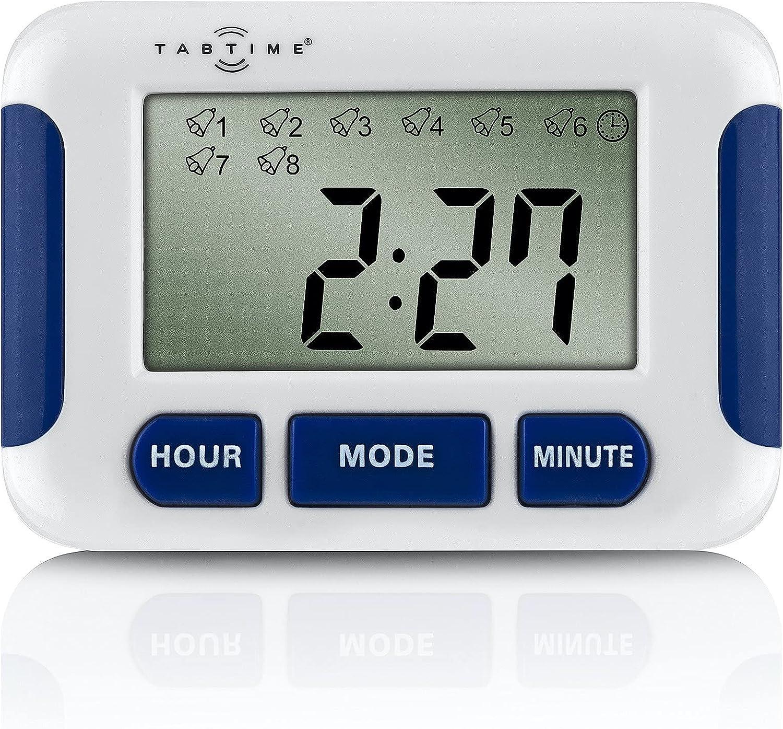 TabTimer (instrucciones en español), hasta 8 alarmas al día, herramienta esencial para personas con enfermedad de Parkinson
