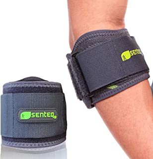 SENTEQ Tennis Elbow Brace Support Strap for Tendonitis and Forearm Pain Relief Band Compression Arm Sleeves Strap
