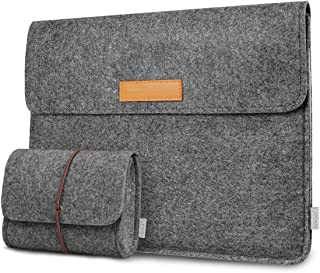Inateck 12.3-13 Inch Laptop Sleeve Case Compatible 2018 MacBook Air, MacBook Pro 13'' 2019/2018/2017/2016 (A1989/A1706/A1708)/Microsoft Surface Pro X/7/6/5/4/3 - Dark Gray