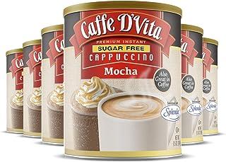 Caffe D'Vita Sugar Free Mocha Cappuccino - Gluten Free, Sugar Free, Decaffeinated, Zero Cholesterol, Kosher-Dairy, Halal -...