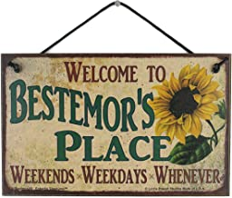 Egbert's Treasures 5×8 Vintage Style Sign with Sunflower Saying, Welcome to..