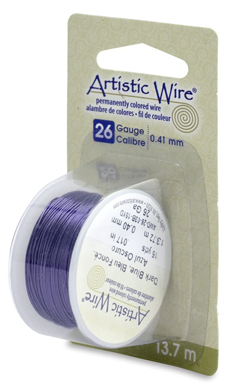 Artistic Wire 26-Gauge Dark Blue Wire, 15-Yards