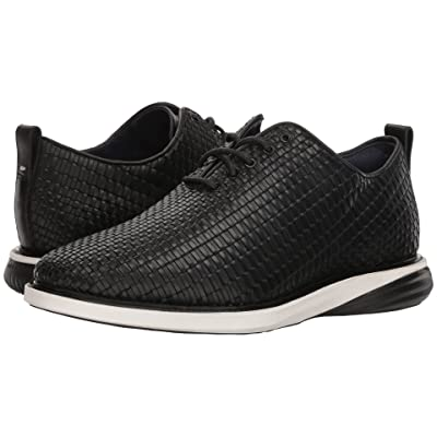 Cole Haan Grand Evolution Woven Oxford (Black Woven Leather/Ivory/Black) Men
