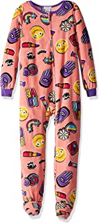 Komar Kids Girls  Big Plush Velour Fleece Footed Blanket Sleeper Pajama 1158b99f1