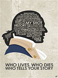 Alexander Hamilton 'WHO Lives, WHO Dies WHO Tells Your Story Word Art Print Poster (9