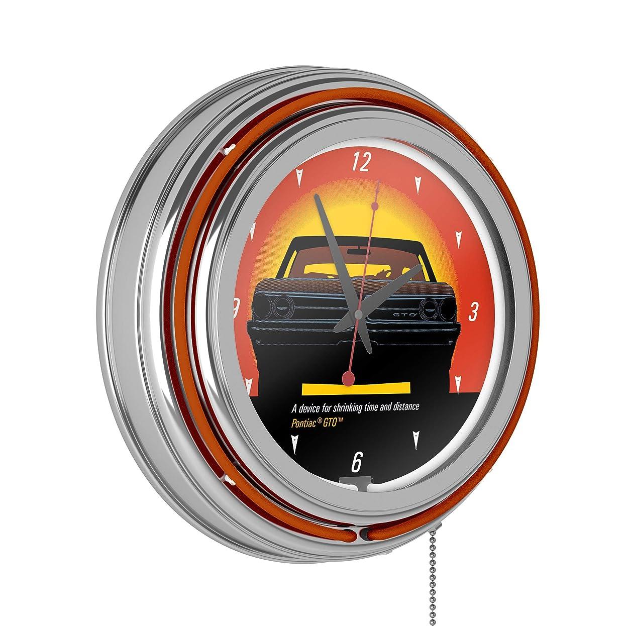 フリッパー自動的に豊富ポンティアック GTO - 時間と距離 - ダブルリング ネオン クロック