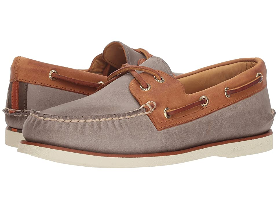 Sperry Gold A/O 2-Eye Chevre (Steel/Tan) Men
