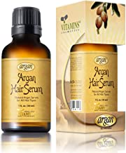 Vitamins Hair Serum Argan Oil - Anti Frizz Serum for Hair Gloss and Shine with Heat Protectant Repair Treatment for Frizzy Dry Damaged Hair