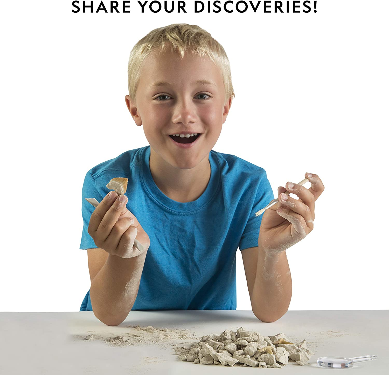 NATIONAL GEOGRAPHIC Mega Fossil Dig Kit Excavate 15 Real Fossils Including Dinosaur Bones /& Shark Teeth Educational Toys an AMAZON EXCLUSIVE Science Kit Great Gift for Girls and Boys