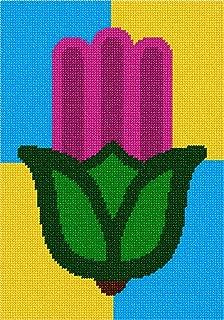 pepita Hamsa Tulip Needlepoint Canvas