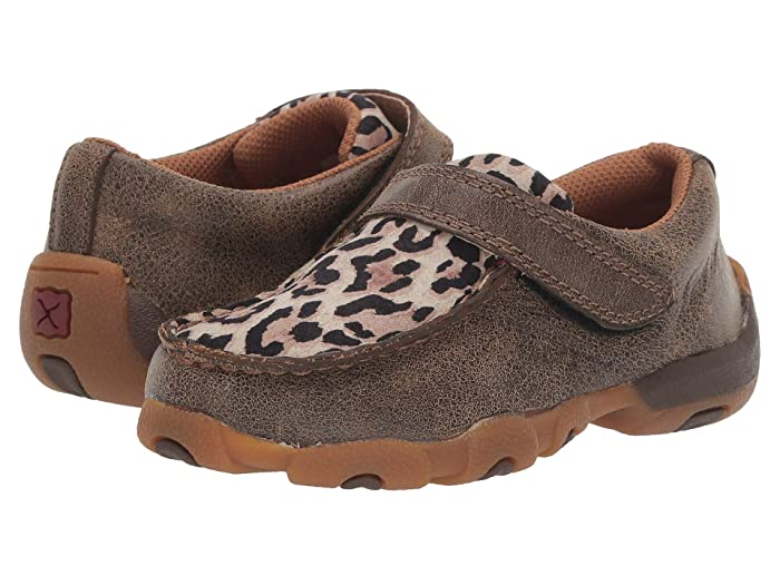 Twisted X  Driving Moc Boat Shoe (Toddler/Little Kid) (Bomber/Leopard) Shoes