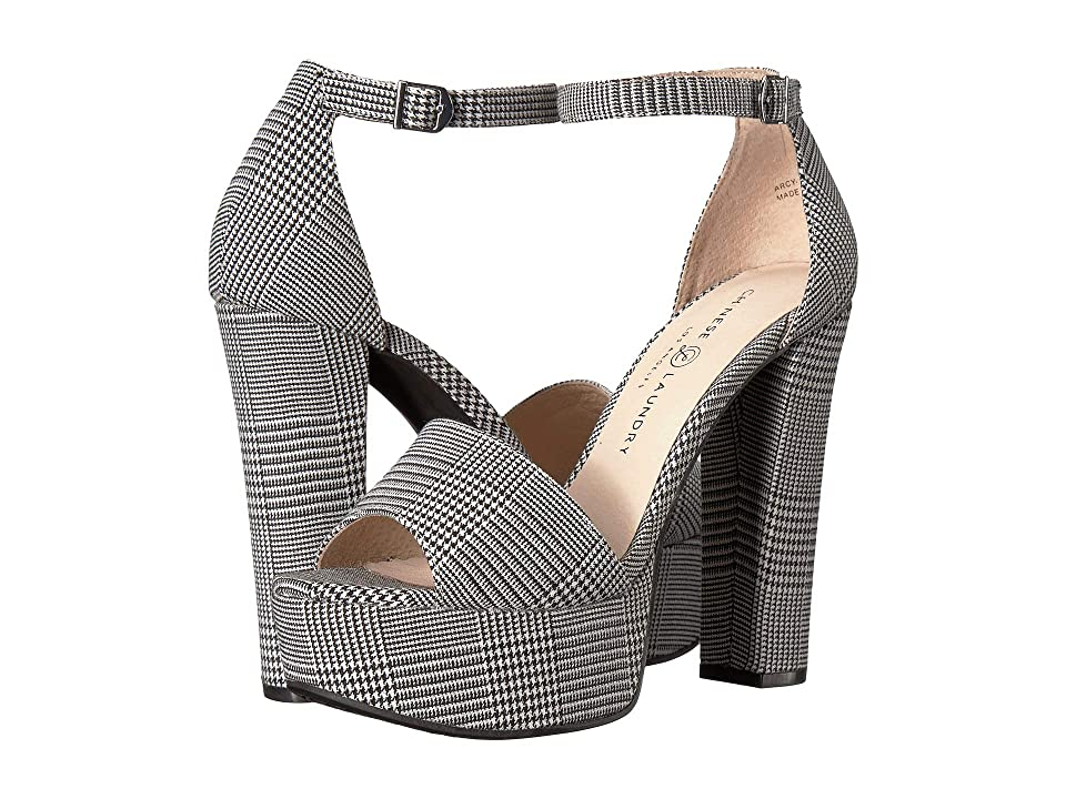 Chinese Laundry Avenue 2 (Black/White Hounstooth) High Heels