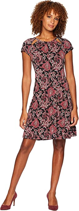 Sweetheart Paisley Dress