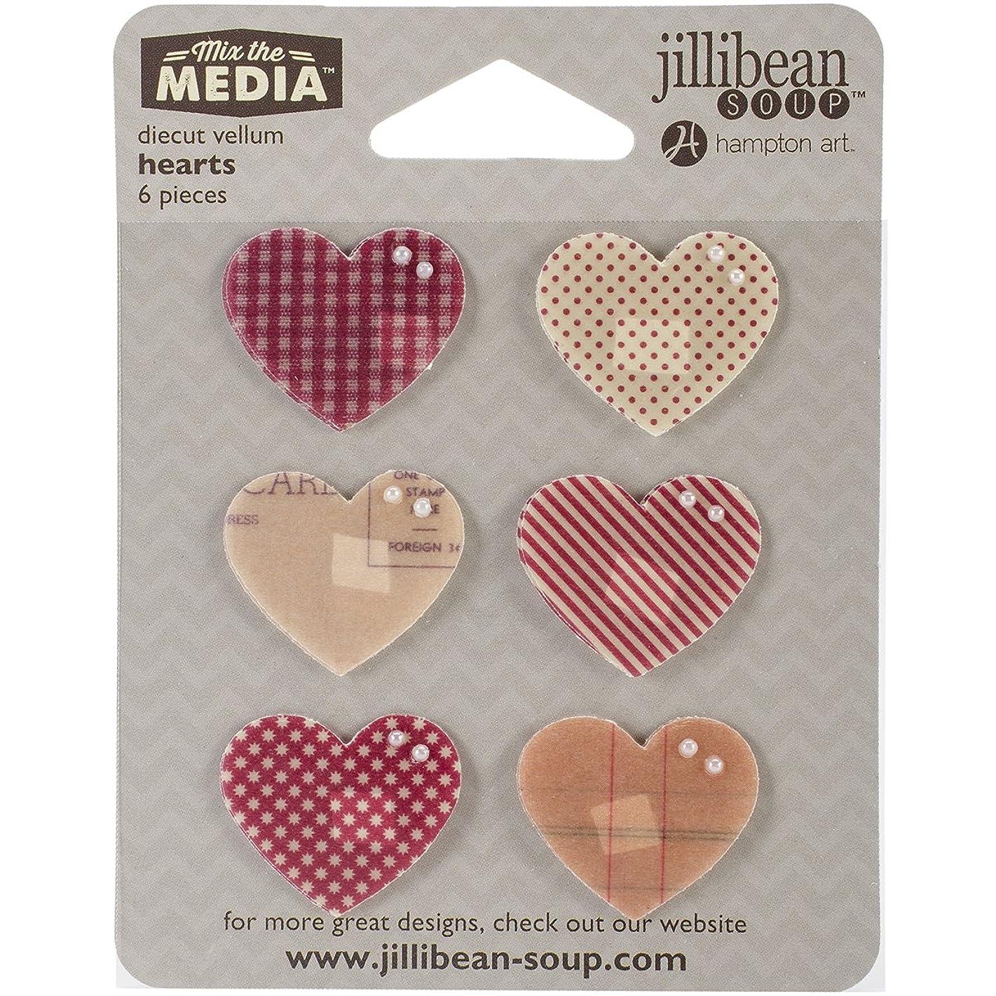 Creative Converting Mix The Media Vellum Die Cut (6 Pack), Hearts