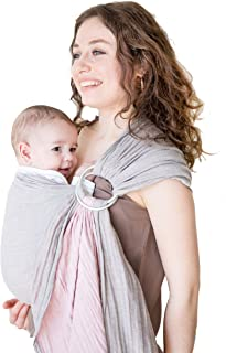 Baby Wrap Carrier Ring Sling-Luxury Extra Soft Turkish Cotton Muslin Grey Rose