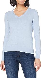 Amazon Brand - Meraki Women's Lightweight Cotton V-Neck Sweater