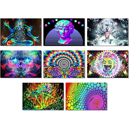 310C2 Psychedelic Trippy Colorful Print Art Silk Cloth Poster Deco