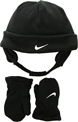Swoosh Baby Fleece Cap Gloves Set (Infant/Toddler)