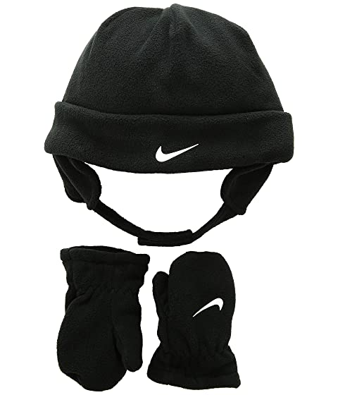 f6481fbde4246 Nike Kids Swoosh Baby Fleece Cap Gloves Set (Infant Toddler) at ...