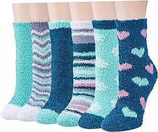 RedMaple, Calcetines de invierno mullidos para mujeres y niñas, cálidos, suaves, gruesos, para dormir, estar en casa