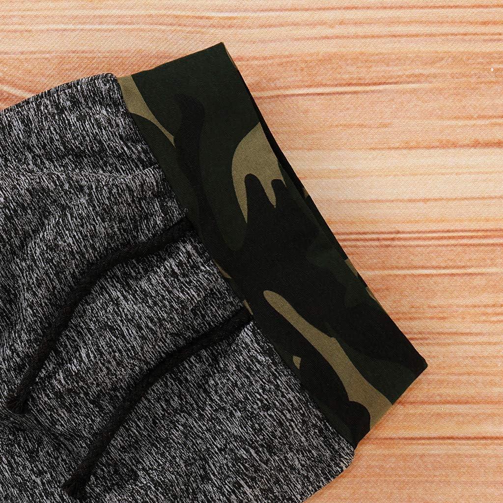 Hui.Hui V/êtement B/éb/é Fille Ensemble Hiver V/êtements Camouflage Sweat-Shirt /à Capuche et Pantalons Tenues,Naissance Enfants Chaud Manteau