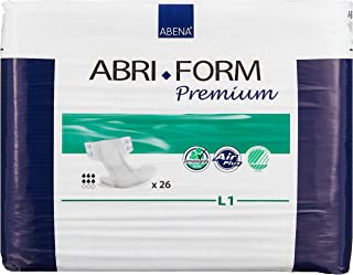 Abena Abri-Form L1 All-In-One Diapers, Case, 26ct (Pack of 4)