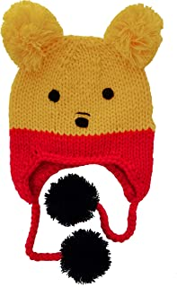 Huggalugs Baby and Toddler Pooh Bear Knit Beanie Hat