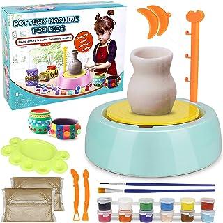 Pottery Wheel Kit for Kids, Handmade Artist Paint Pottery Studio, Ceramic Machine with..