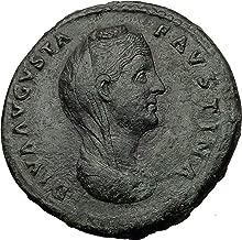 1000 IT FAUSTINA I Sr Antoninus Pius Wife Sestertius Auth Sestertius Good