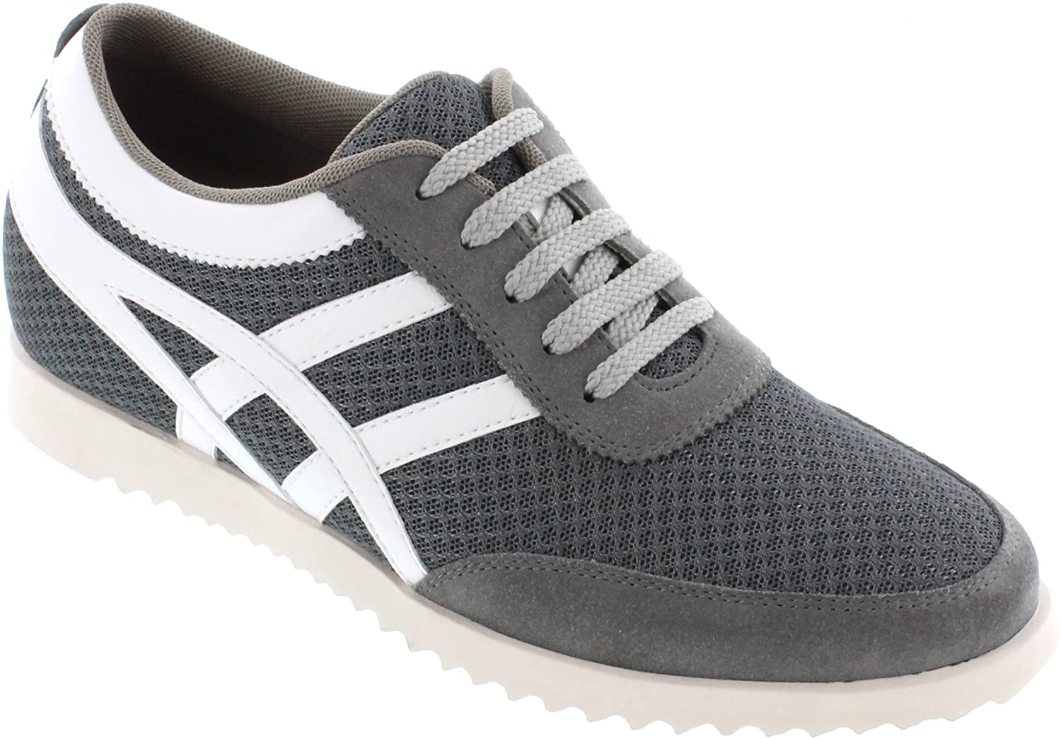 TOTO - L227082 - 2.4 Inches Taller - Height Increasing Elevator shoes - Cement Grey Lightweight Fashion Sneakers